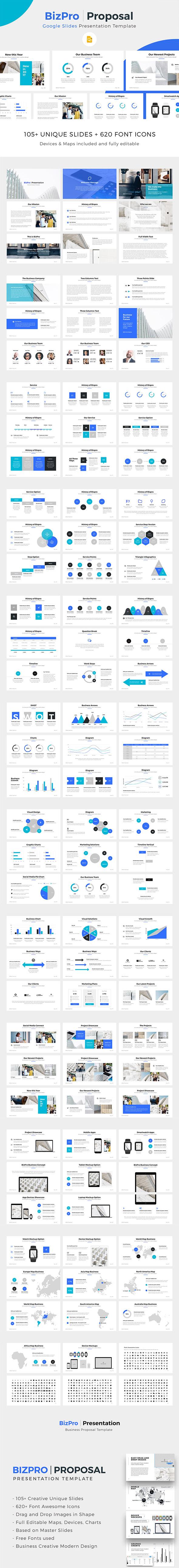 BizPro | Google Slides Proposal Business Template - Google Slides Presentation Templates