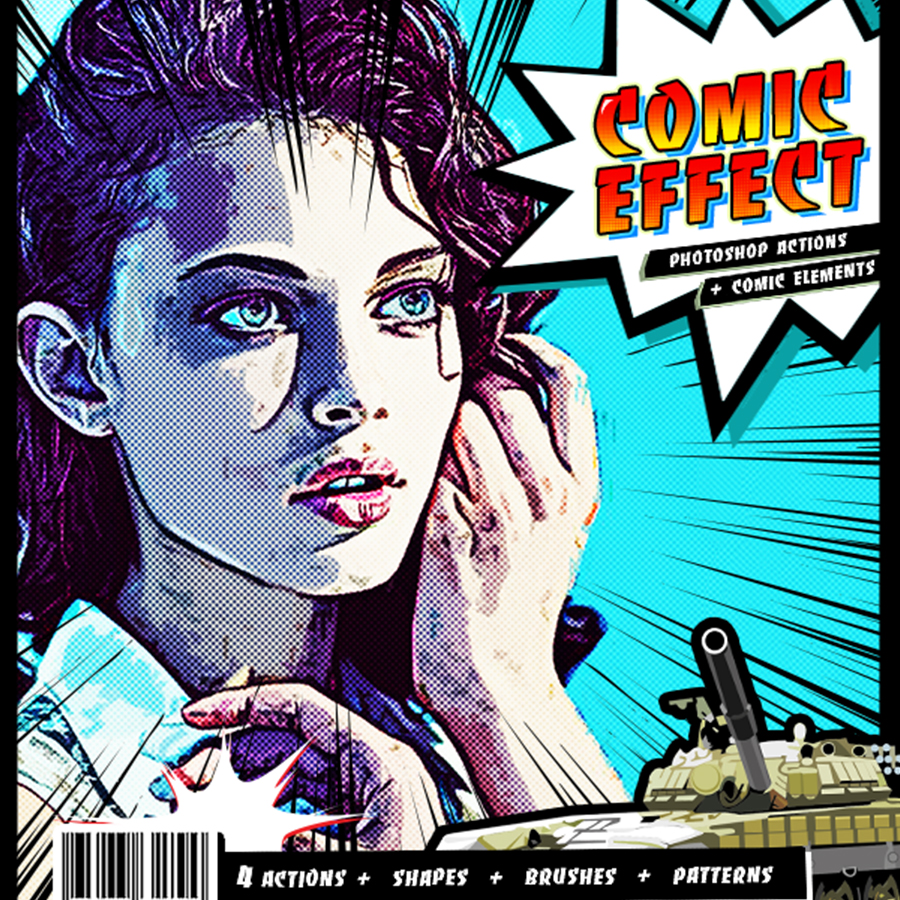 Comic effect ps actions by irmuundesign graphicriver preview image set01g baditri Gallery