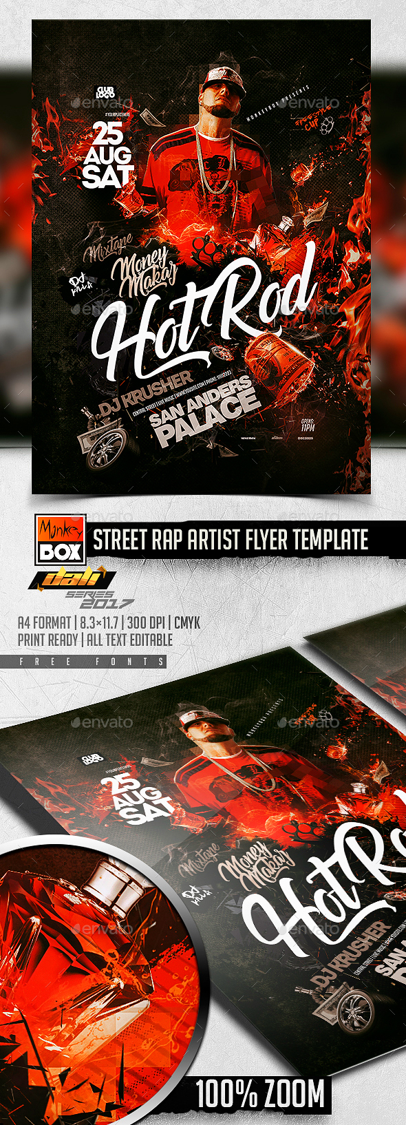 Street Rap Artist Flyer Template - Events Flyers
