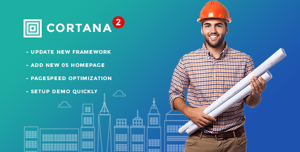 Cortana - Building and Construction WordPress Theme - Business Corporate