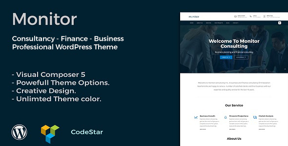 Monitor | Consulting & Business WordPress Theme