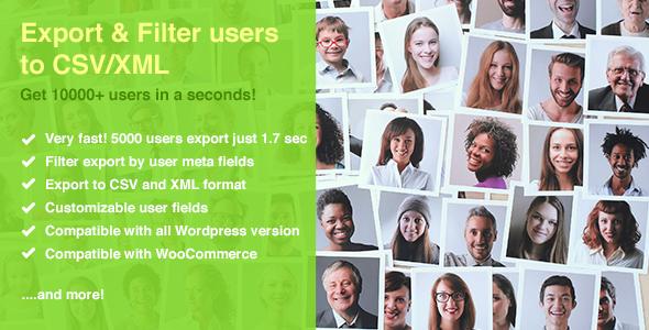 Quick User Export & Filter