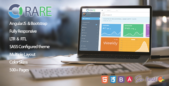 ThemeForest Rare AngularJS & Bootstrap Responsive Admin Template 20441933