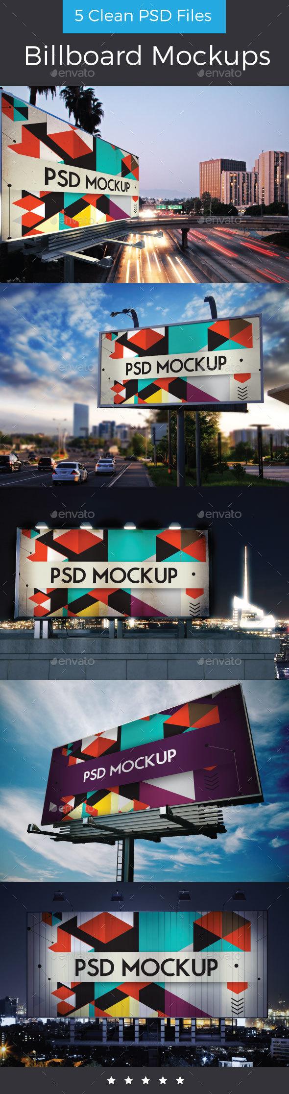 Billboard Mockup Design - Signage Print