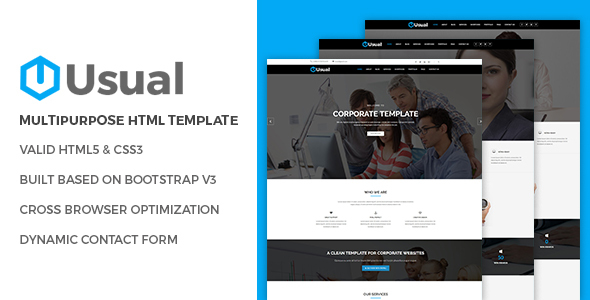 Usual - Multipurpose HTML Template - Business Corporate