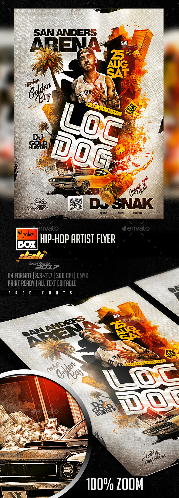 GraphicRiver Hip-Hop Artist Flyer 20442124