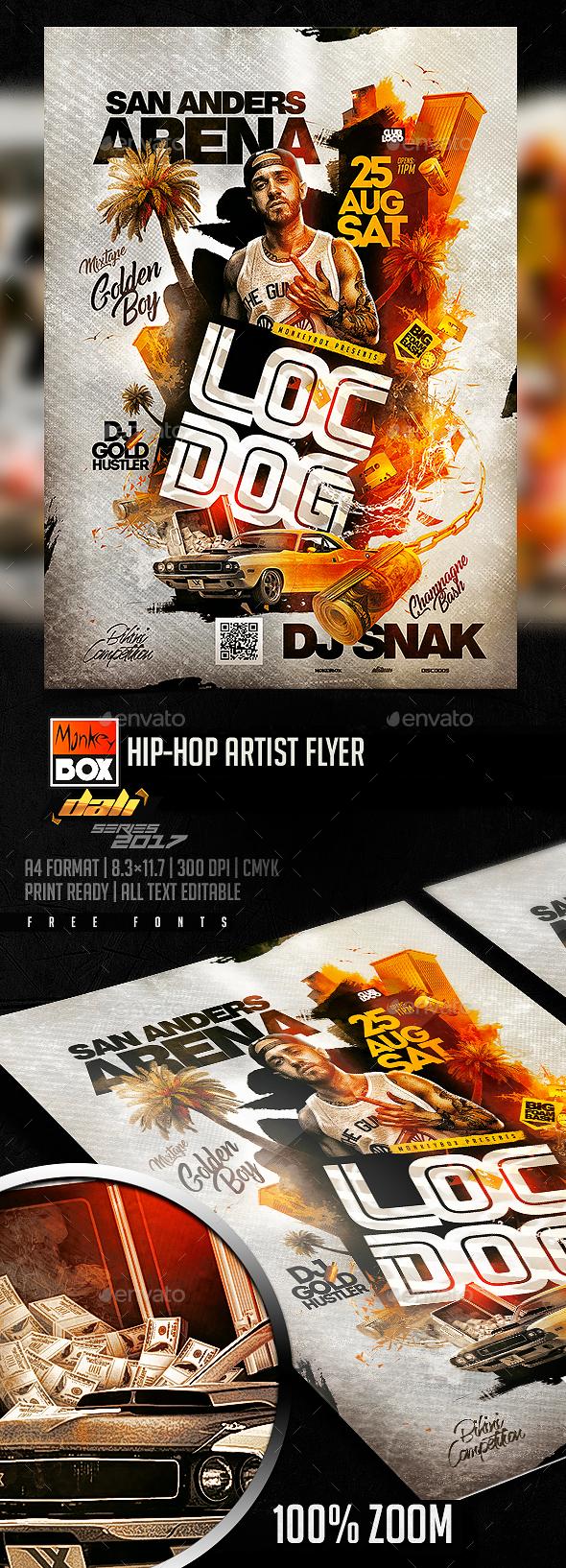 Hip-Hop Artist Flyer - Flyers Print Templates
