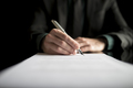 Closeup of lawyer or executive signing a contract - PhotoDune Item for Sale