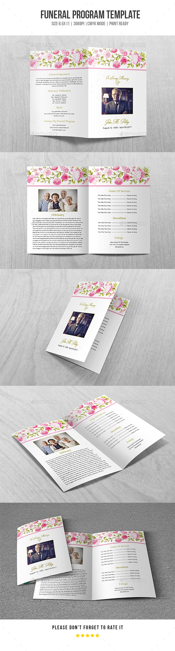 GraphicRiver Funeral Program Template Vol 38 20442182