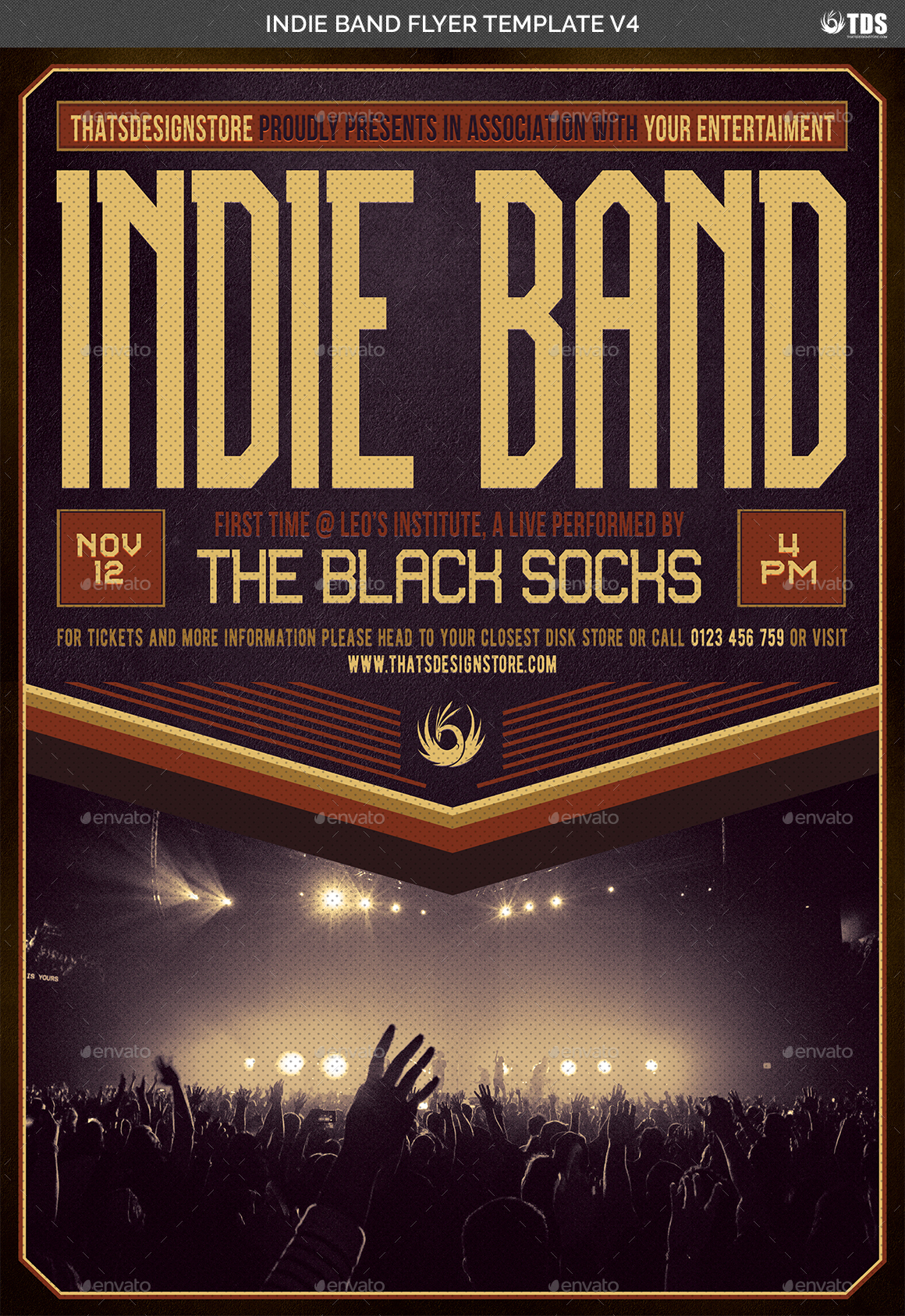 01_Indie Band Flyer Template V4 02_Indie Band Flyer Template V4  03_Indie Band Flyer Template V4 ...