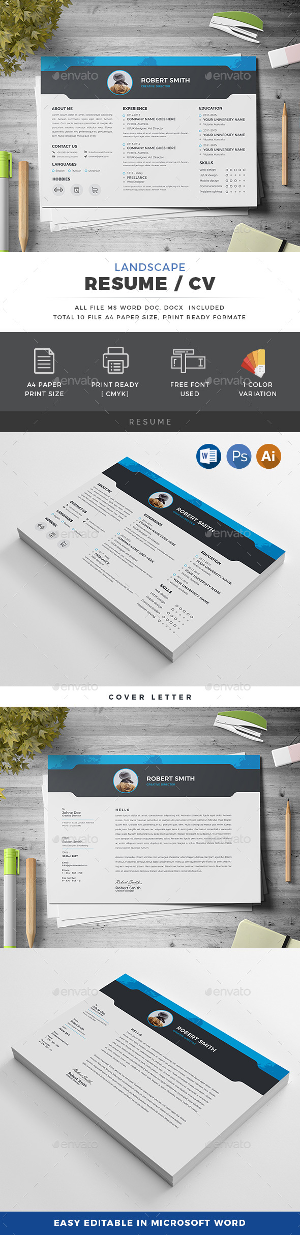 Landscape Resume - Resumes Stationery