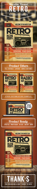 GraphicRiver Retro Flyer Poster 20442242