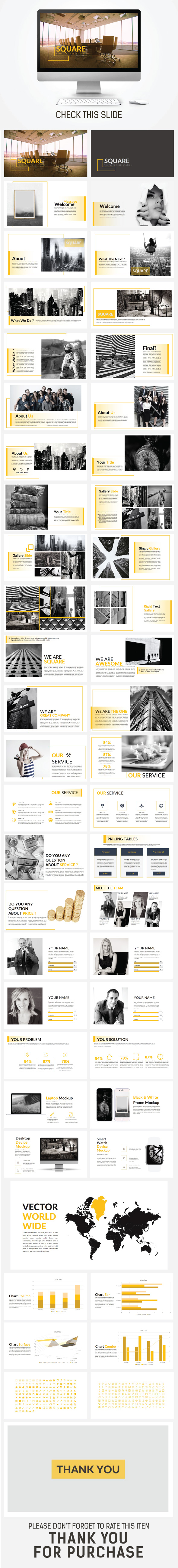 SQUARE Powerpoint Template - Business PowerPoint Templates