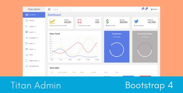 Titan Bootstrap 4 Admin Template