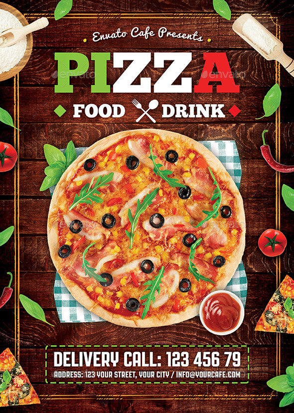 GraphicRiver Pizza Flyer 20442678