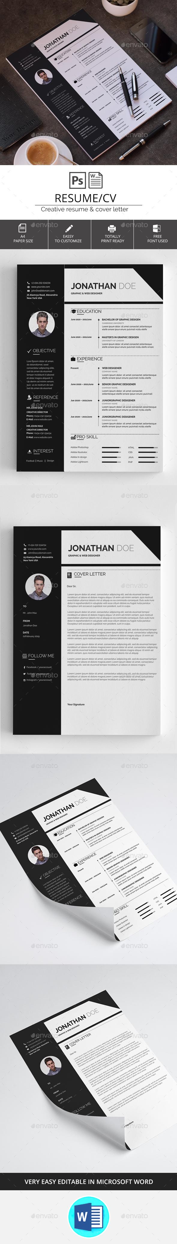 GraphicRiver Resume CV 20442741