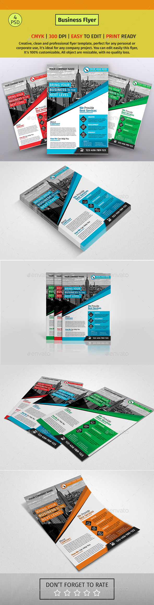 A4 Corporate Business Flyer #136 - Corporate Flyers