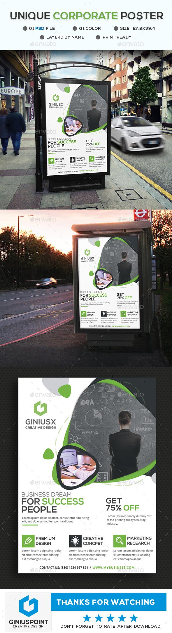 GraphicRiver Corporate Poster 20442923