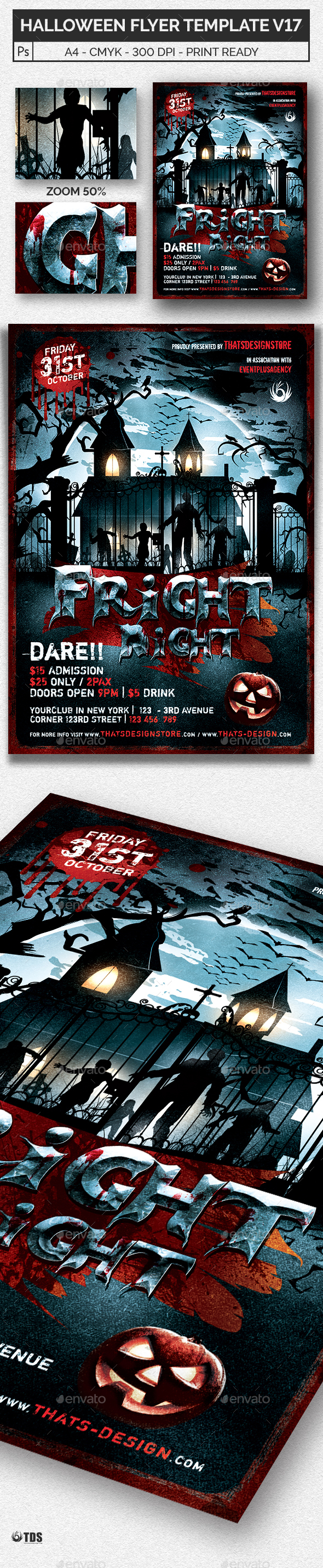 Halloween Flyer Template V17 - Holidays Events