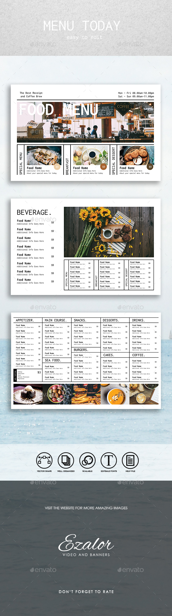 Menu Today - Food Menus Print Templates