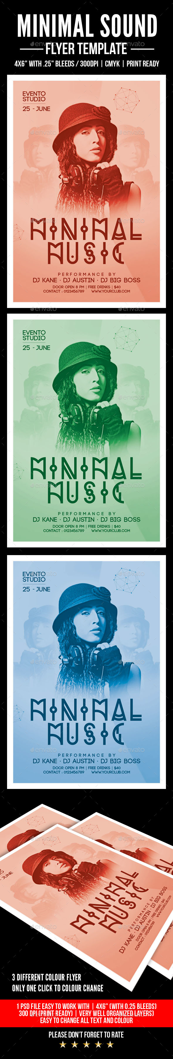 GraphicRiver Minimal Music Flyer 20443100