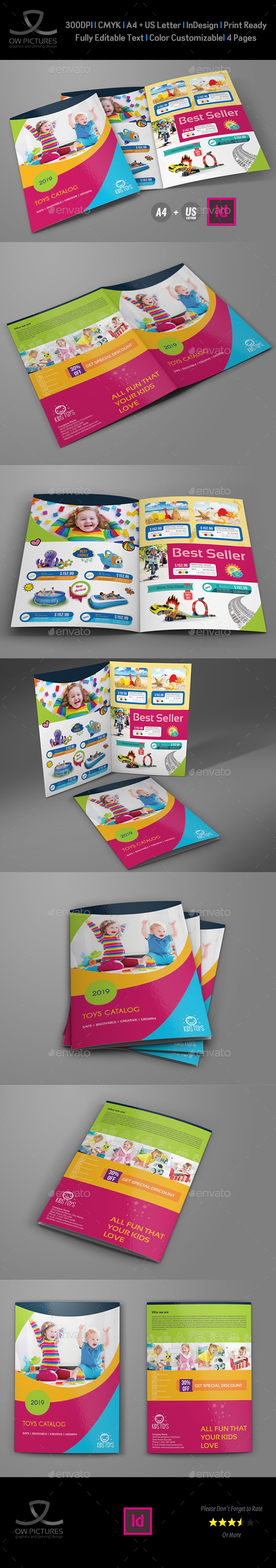GraphicRiver Toys Products Catalog Bi-Fold Brochure Template 20443297