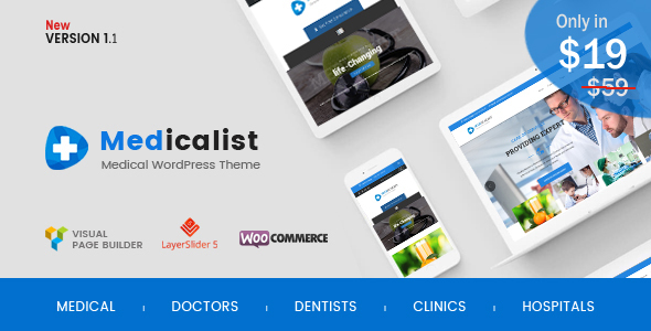 25+ Best Dental Care and Dentist WordPress Themes 2019 3