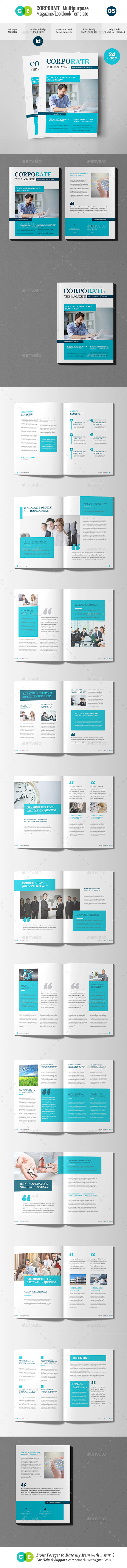 Corporate | Multipurpose Magazine Lookbook V05 - Magazines Print Templates