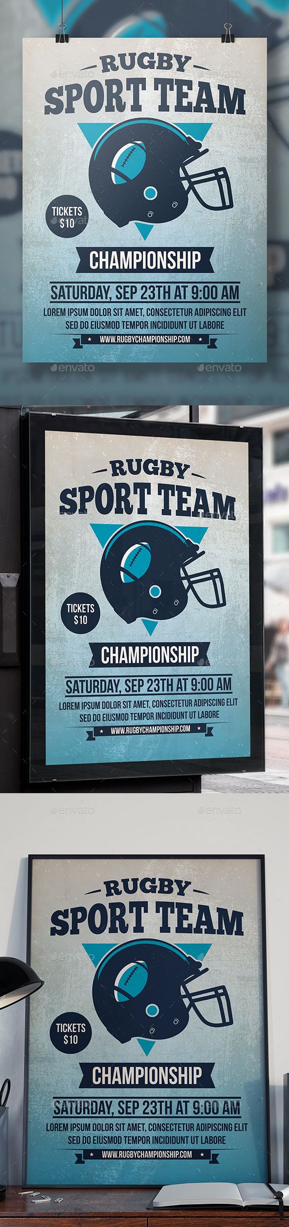 GraphicRiver Rugby Tournament Flyer Template 20443476