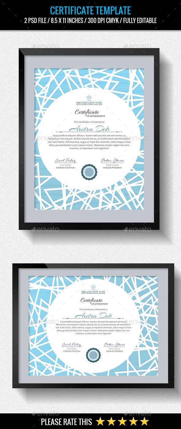 GraphicRiver Multipurpose Certificates Template 20443511