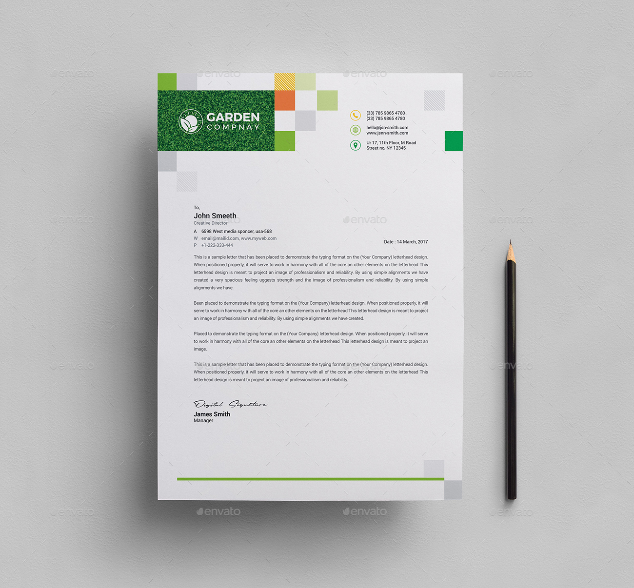Garden Letterhead & Logo Template by generousart | GraphicRiver