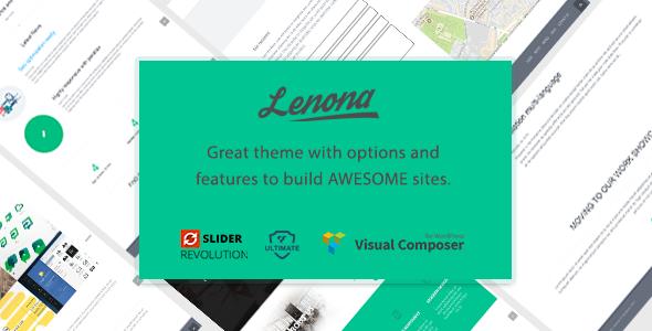 ThemeForest Lenona IT Solutions Minimal WordPress theme 19847548