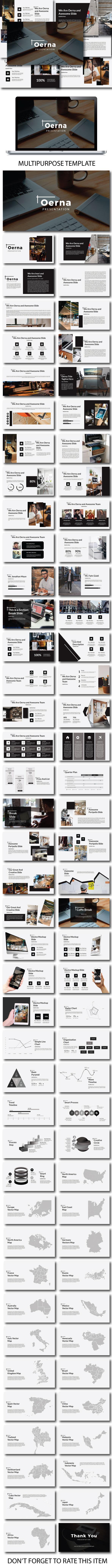 Oerna Multipurpose Powerpoint Template - PowerPoint Templates Presentation Templates