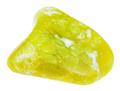 polished yellow lizardite (serpentine) gemstone