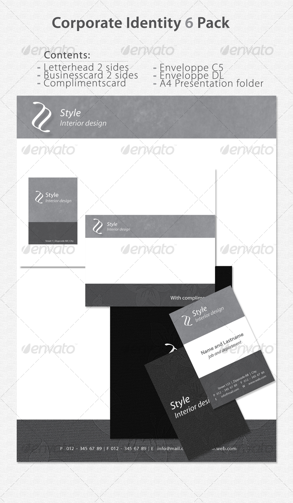 Corporate Identity 6 Pack - Stationery Print Templates