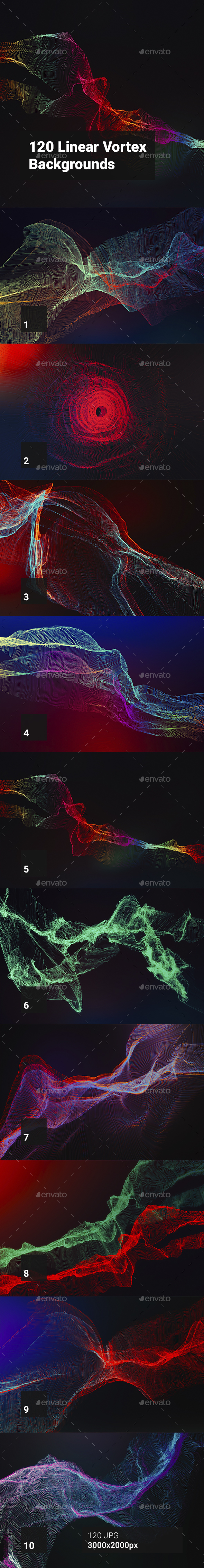 GraphicRiver 120 Linear Vortex Backgrounds 20443805