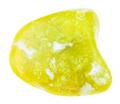 tumbled yellow lizardite gemstone isolated