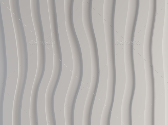 GraphicRiver Black and White Pattern Made of Curved Waves 3d 20443811