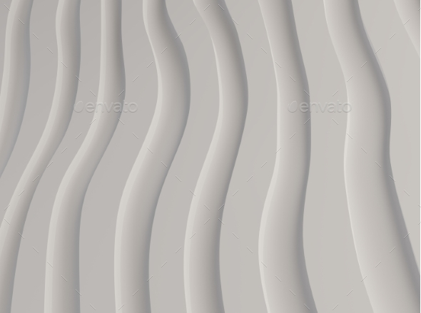 GraphicRiver Black and White Pattern Made of Curved Waves 3d 20443814