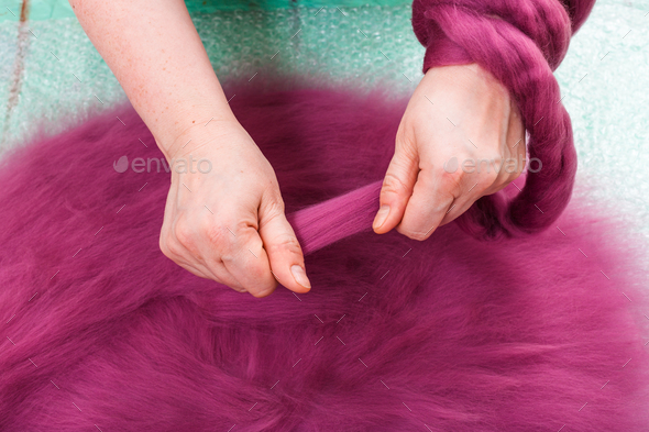 arranging of the second layer of fibers on layout - Stock Photo - Images