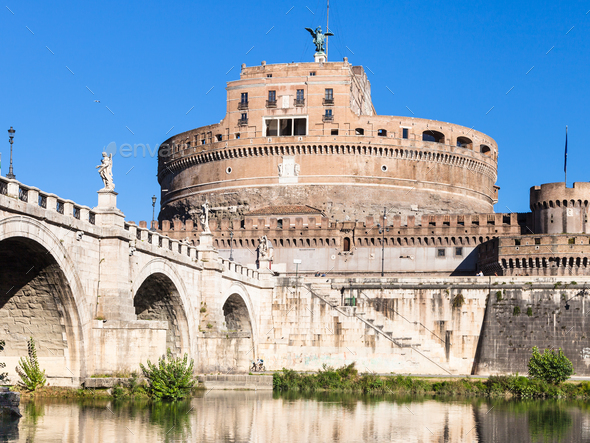 Castel Sant Angelo (Castle of the Holy Angel) - Stock Photo - Images