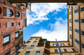 view of cloudy sky from patio of house in Rome