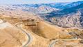 King's road in mountain near Al Mujib dam, Jordan