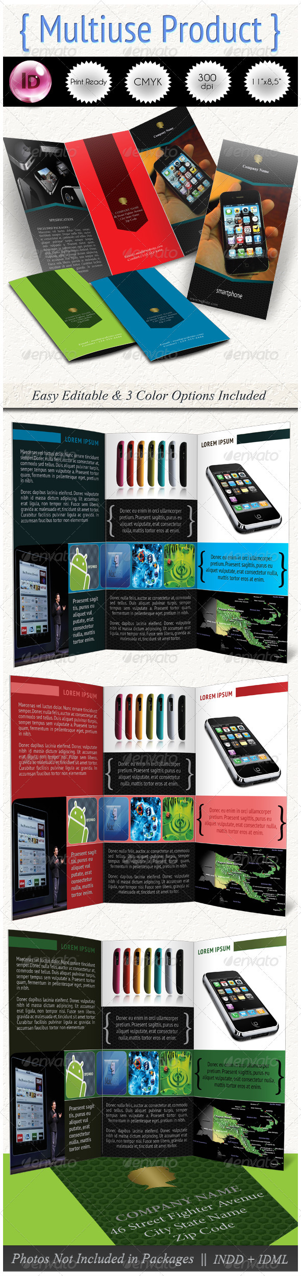 Multiuse Product Trifold - Corporate Brochures