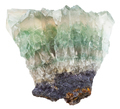green fluorite rock isolated on white