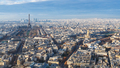 Paris with Eiffel Tower and palace Les Invalides