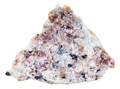 pink Miserite stone in rock isolated