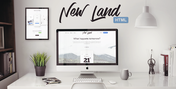 New Land - App Landing Page HTML Template Responsive