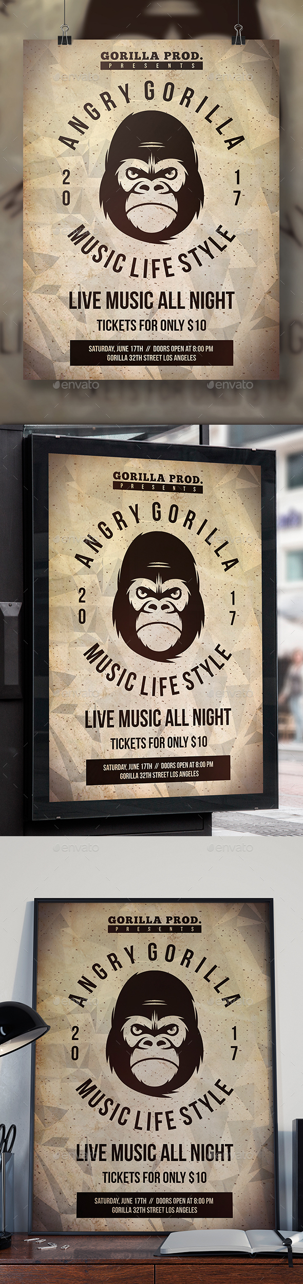 GraphicRiver Gorilla Flyer Template 20444994