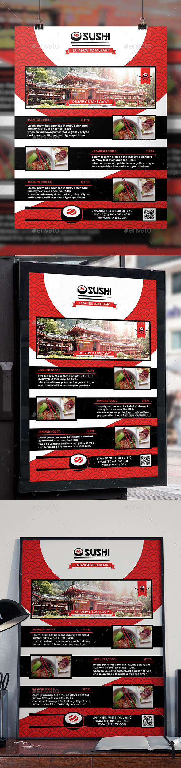 Asian Restaurant Flyer Template